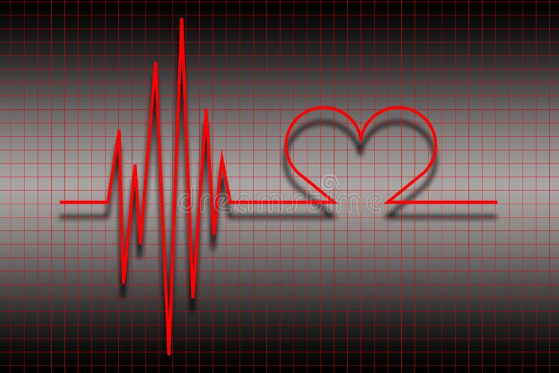 Download ECG stock illustration. Illustration of cardiology, diagnosis - 17149167