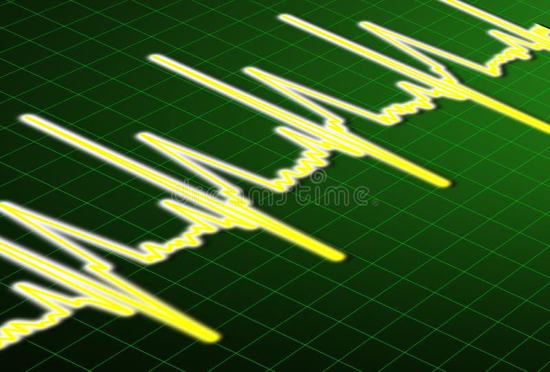 ECG. Heart Beat impulse line stock illustration