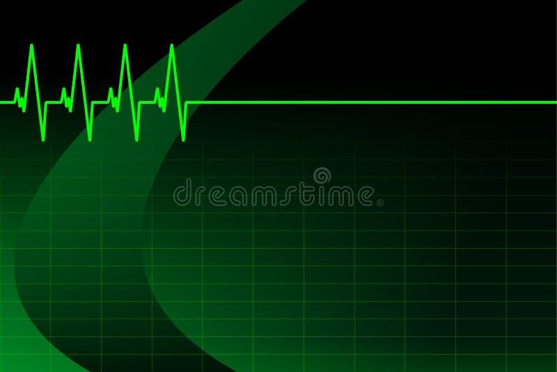 Download ECG/EKG Background/business Card Stock Vector - Image: 15544976