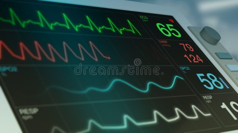 Ecg ekg monitor stock illustration