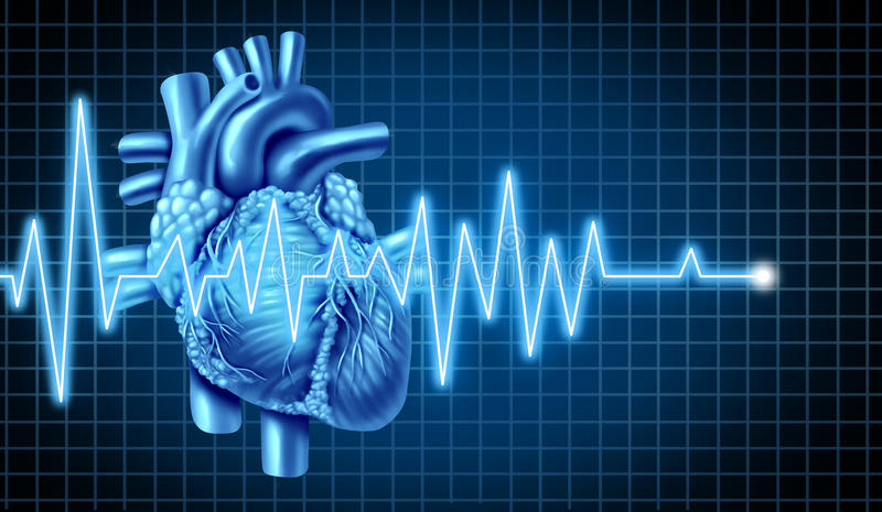 ecg ekg wykresu serce ilustracji