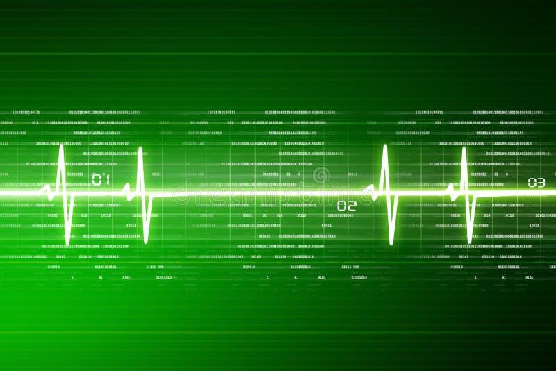 ECG Electrocardiogram. Digital illustration of ECG Electrocardiogram stock illustration