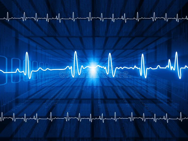 ECG Electrocardiography. Medical and healthcare background royalty free illustration