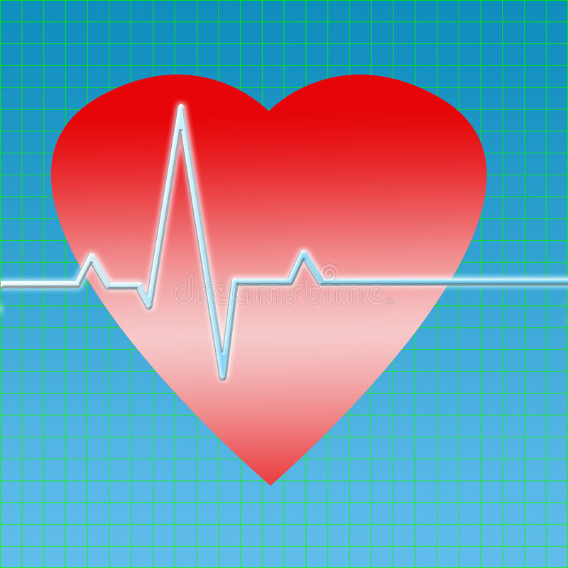 ECG graph. Healthy heart ecg graph vector illustration