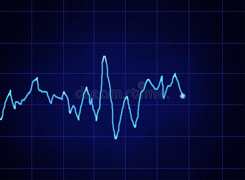 ECG graph stock illustration
