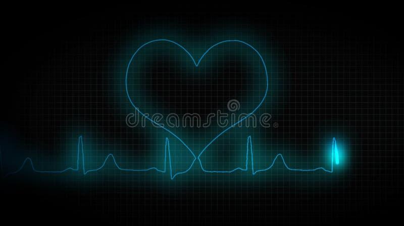 ECG heart healthy. Healthy lifestyle. Healthy lifestyle. ECG heart healthy royalty free illustration