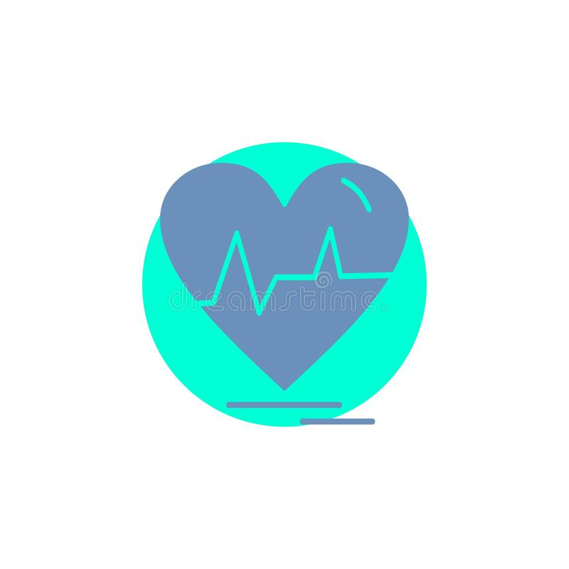 Ecg, heart, heartbeat, pulse, beat Glyph Icon. Vector EPS10 Abstract Template background stock illustration