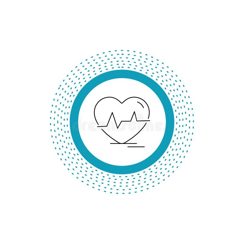 Ecg, heart, heartbeat, pulse, beat Line Icon. Vector isolated illustration. Vector EPS10 Abstract Template background vector illustration