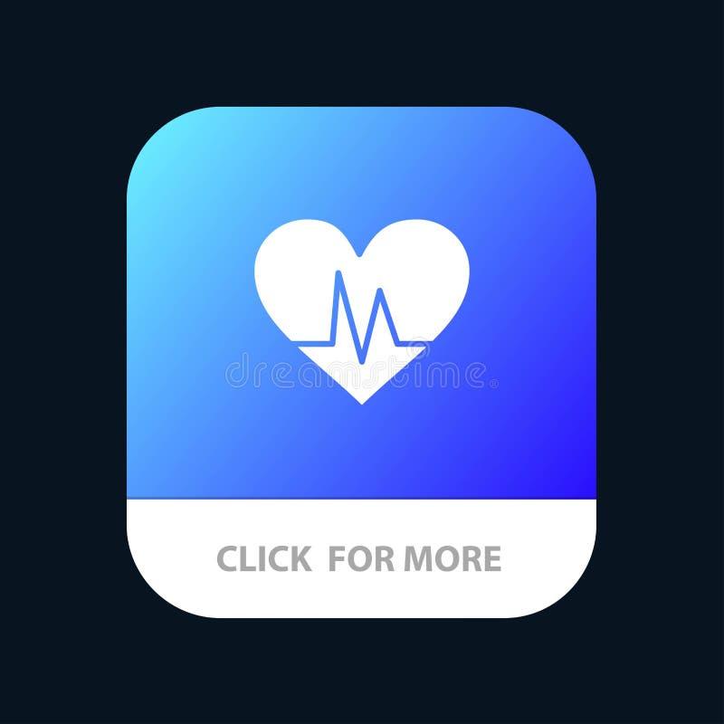 Ecg, Heart, Heartbeat, Pulse Mobile App Icon Design vector illustration