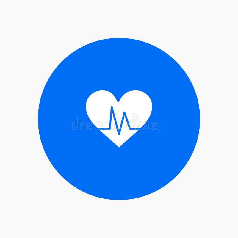 Ecg, Heart, Heartbeat, Pulse white glyph icon vector illustration