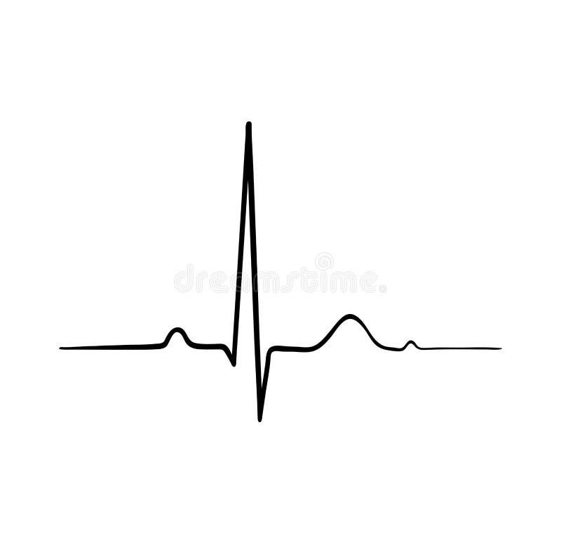 Ecg heartbeat. cardiology symbol. logo for cardiologist. Medical icon. Vector Illustartion stock illustration