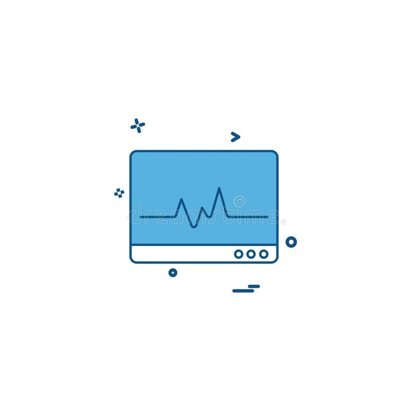 ECG icon design vector. This Vector EPS 10 illustration is best for print media, web design, application design user interface and infographics with well vector illustration