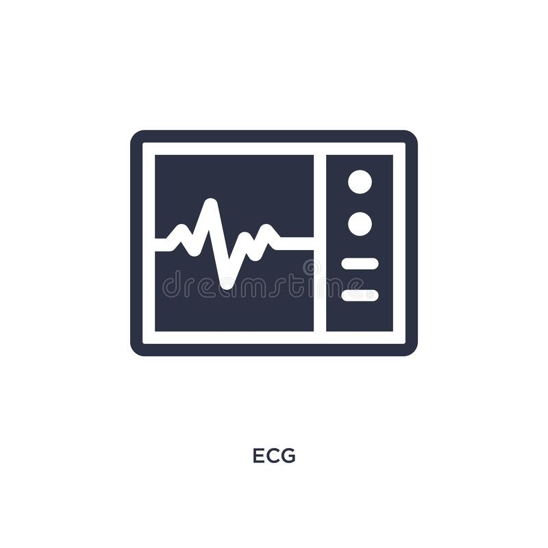Ecg icon on white background. Simple element illustration from medical concept. Ecg icon. Simple element illustration from medical concept. ecg editable symbol vector illustration