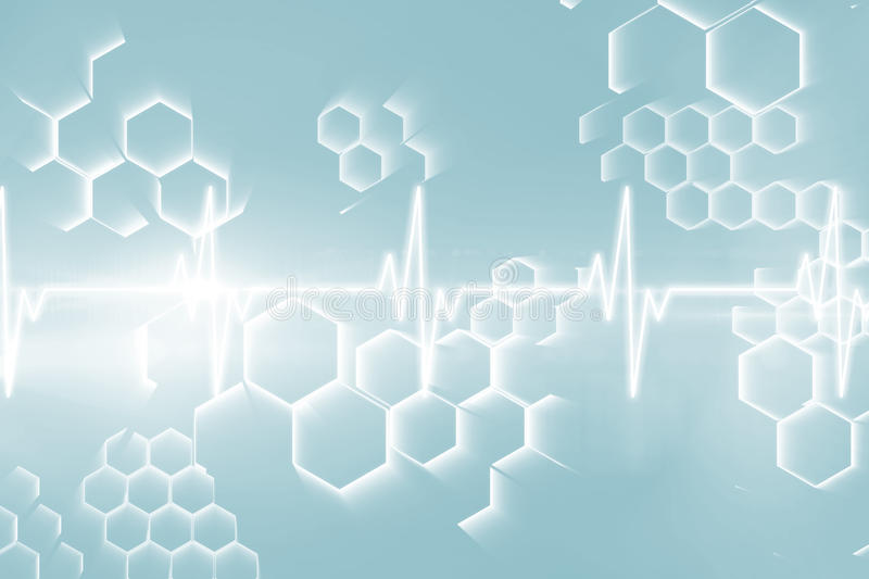 ECG line in black and blue 3d royalty free illustration