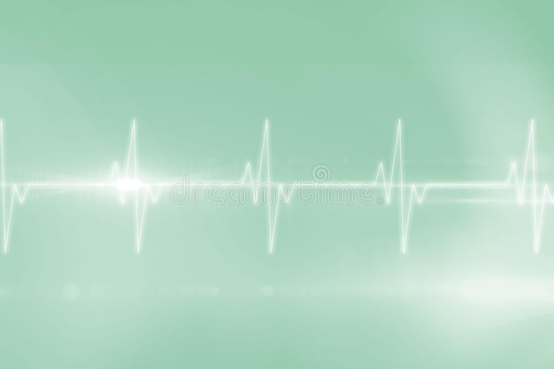 ECG line in black and green. Digitally generated ECG line in black and green vector illustration