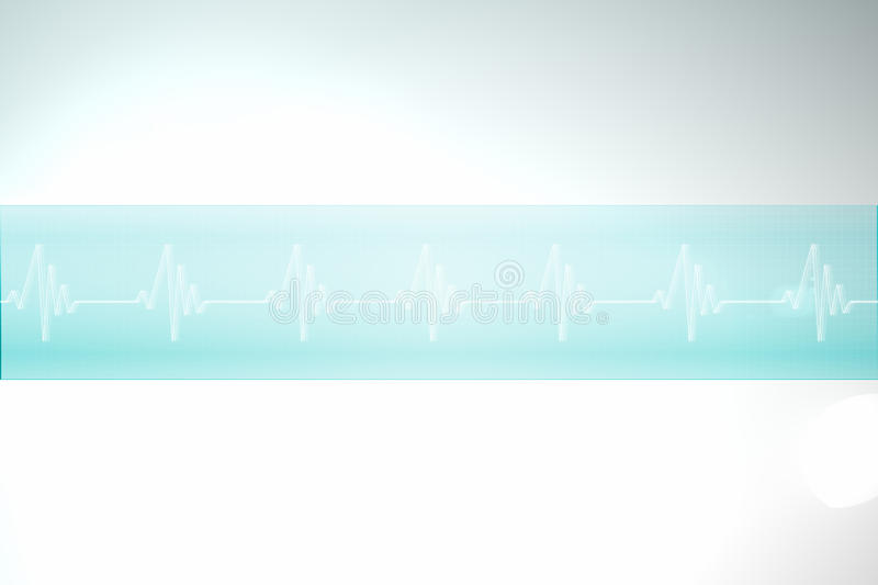 ECG line in blue and white stock illustration