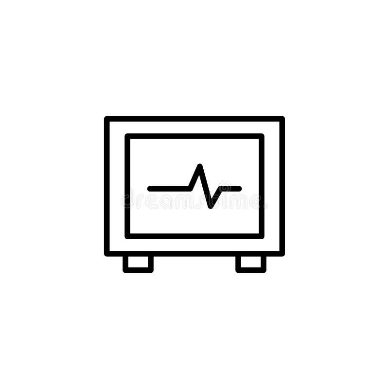 ECG maszyna, kierowa puls ikona royalty ilustracja