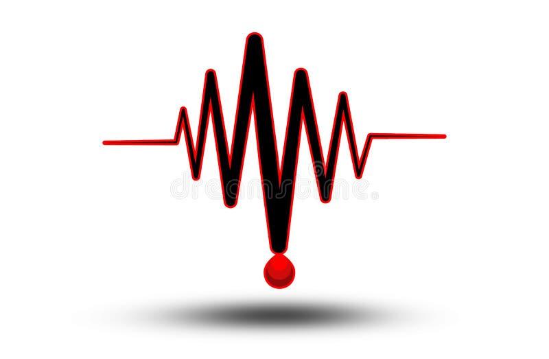 ECG ou électrocardiogramme - icône médicale images stock