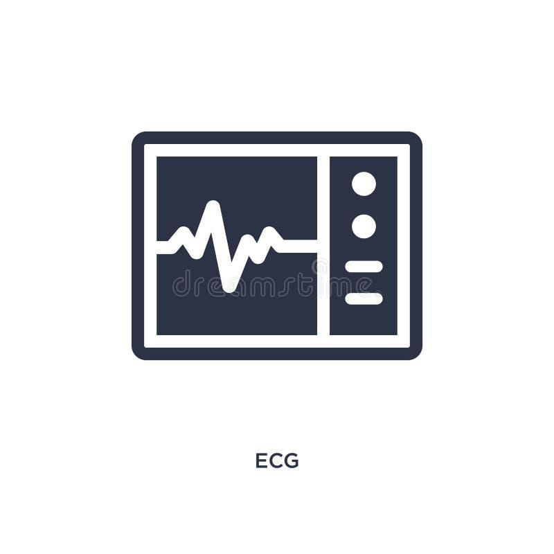 ecg pictogram op witte achtergrond Eenvoudige elementenillustratie van Medisch concept vector illustratie