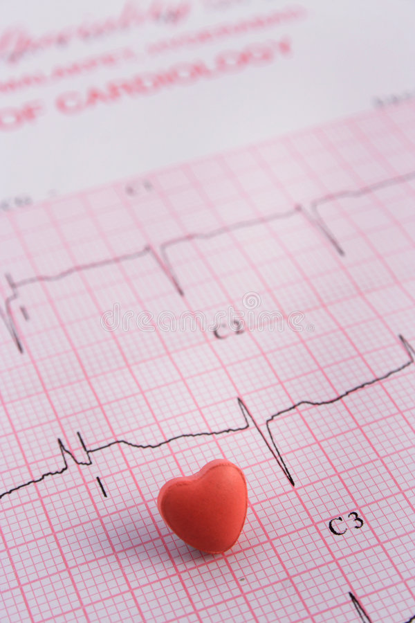 ECG and pill stock images