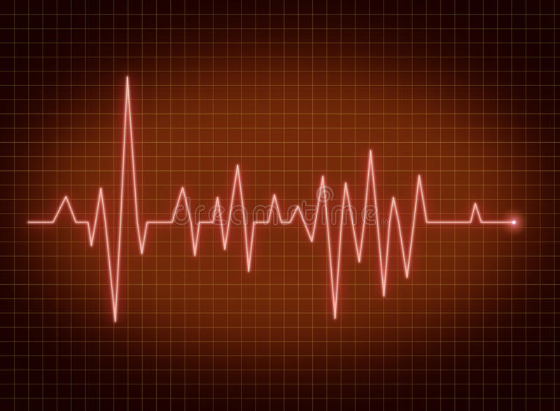ECG pulse stock illustration