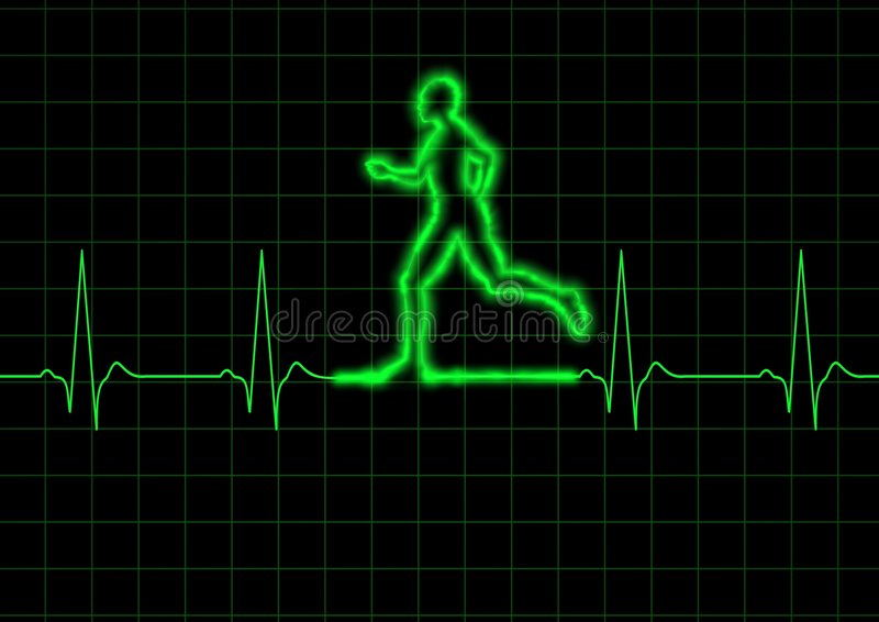 ECG Runner vector illustration