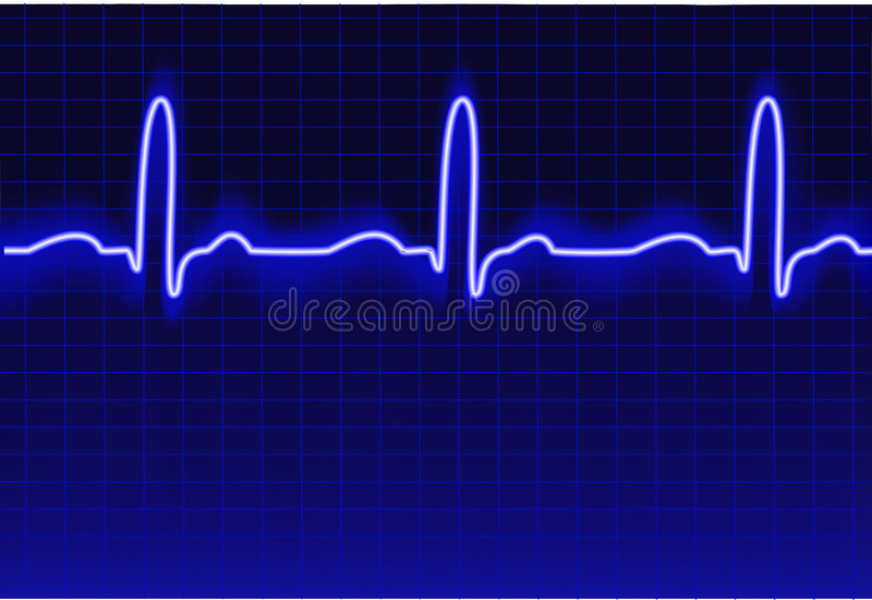 ECG trace royalty free illustration