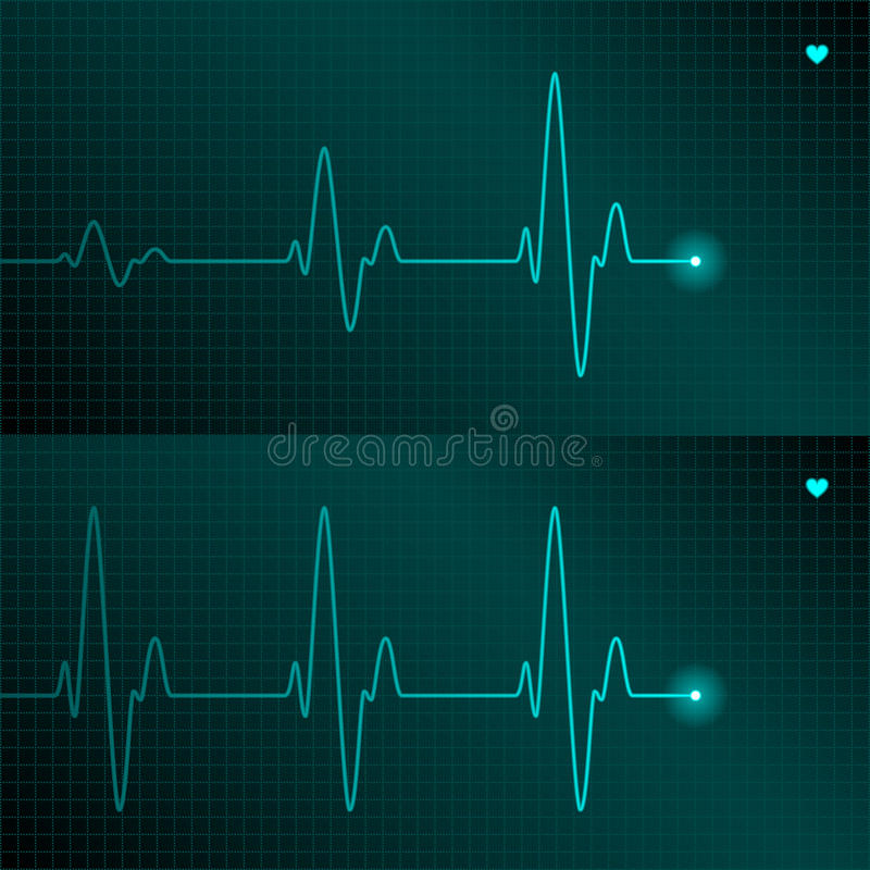 ECG tracing royalty free illustration