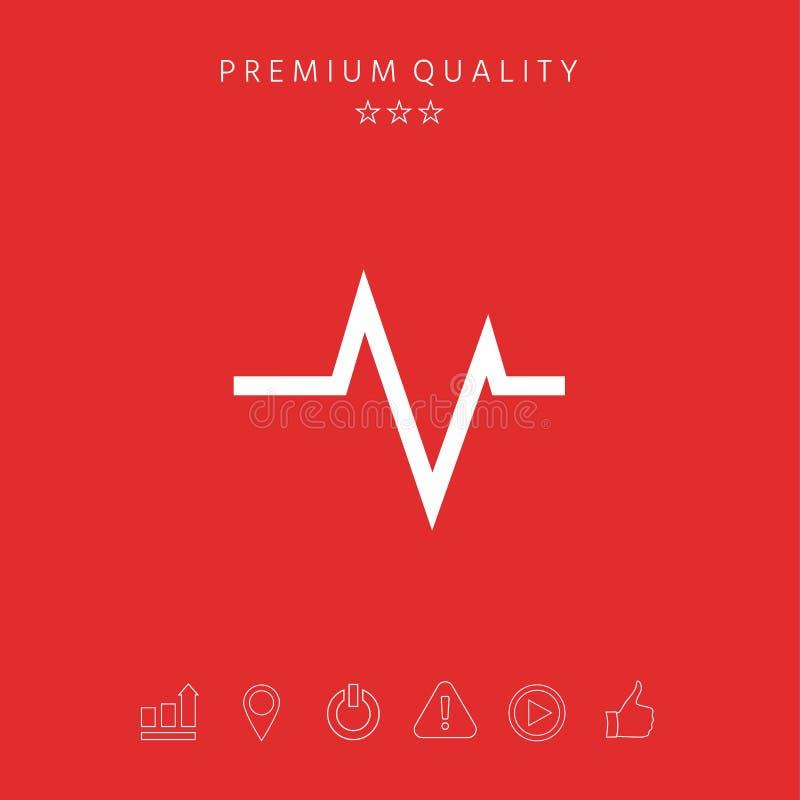 ECG wave - cardiogram symbol. Medical icon. Element for your design vector illustration