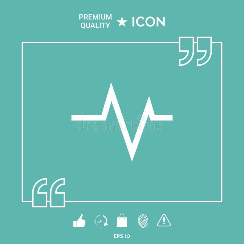 ECG wave - cardiogram symbol. Medical icon. Element for your design royalty free illustration