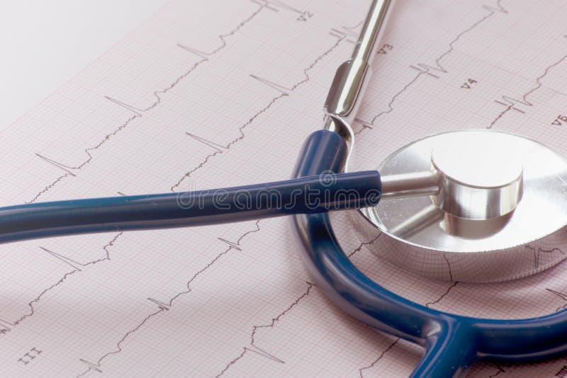 Download ECG z stetoskop blendą obraz stock. Obraz złożonej z zdrowy - 28971453