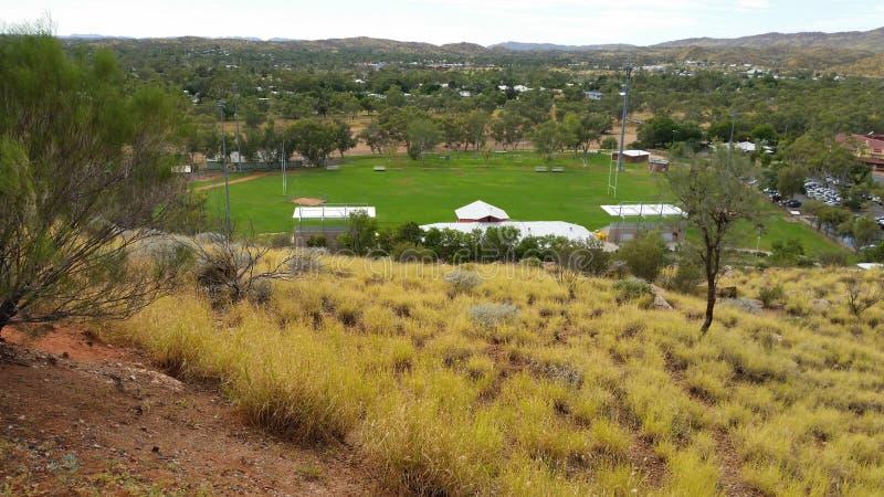 Echada de Alice Springs Rugby fotografía de archivo libre de regalías