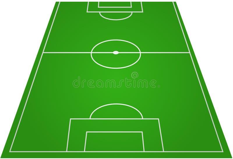 Echada del campo de fútbol del balompié ilustración del vector