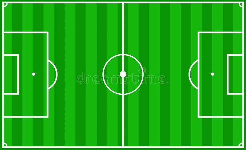 Echada del fútbol ilustración del vector