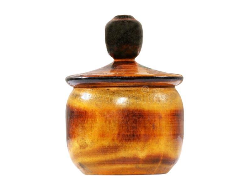 Echador de madera viejo de la sal. Aislado. imagenes de archivo