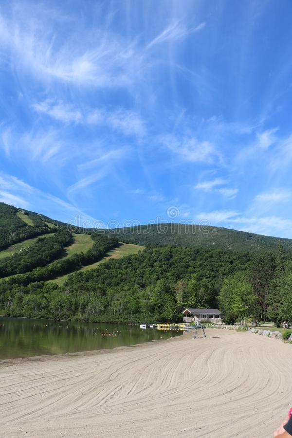 Echo湖国家公园康威,NH 免版税库存图片