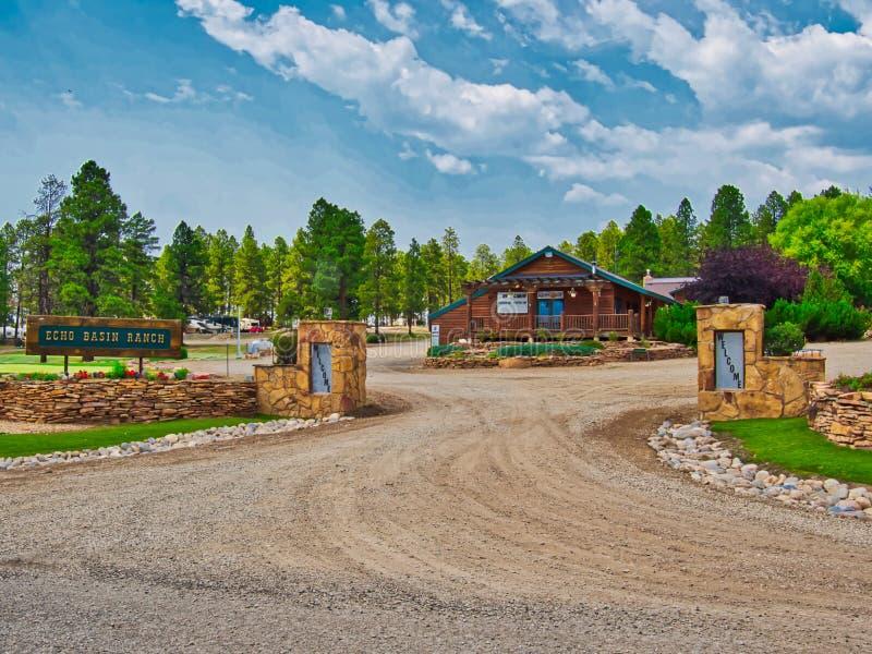 Entrance to Echo Basin Ranch Near Mancos stock image