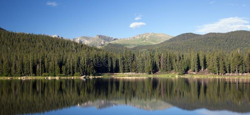 Echo Lake Colorado e montagem Evans imagens de stock