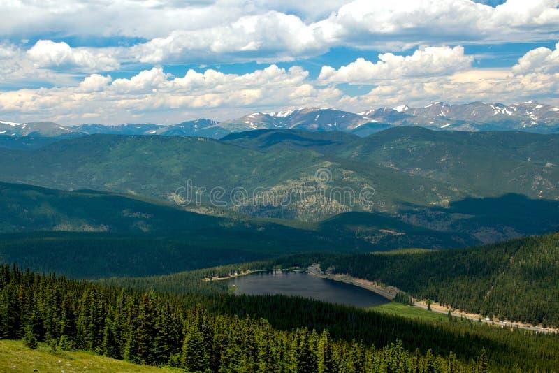 Echo Lake no Mt Evans, Colorado imagens de stock