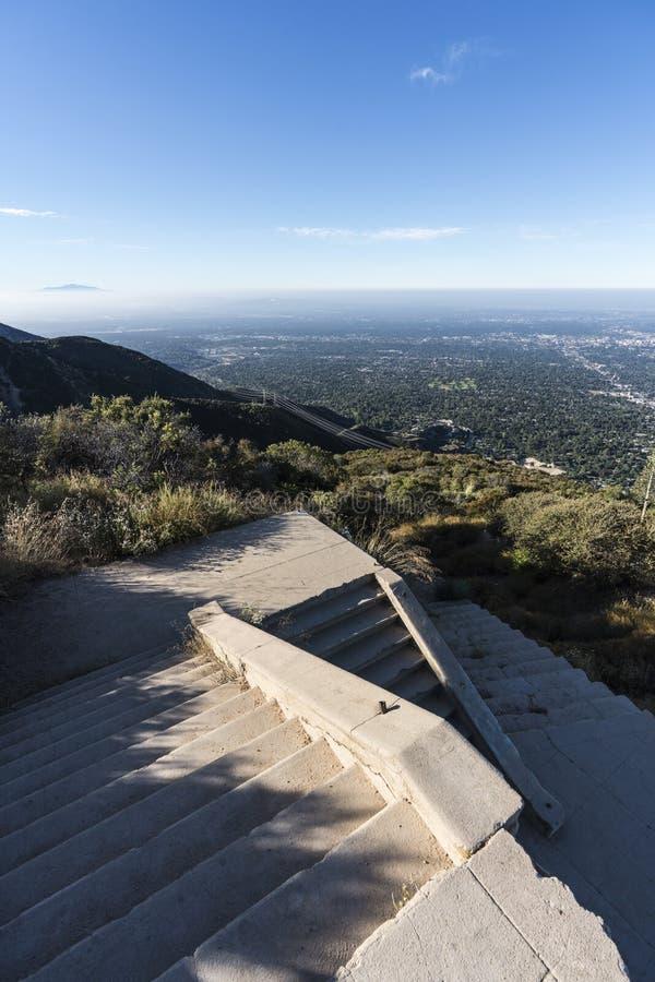 Echo Mountain Stairway Angeles National-Wald stockfotografie