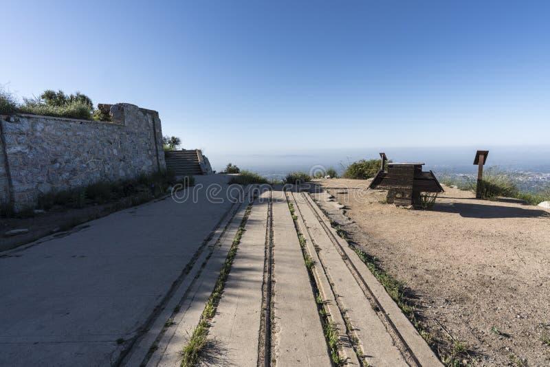 Echo Mtn Incline Railroad Ruins Los Ángeles California foto de archivo