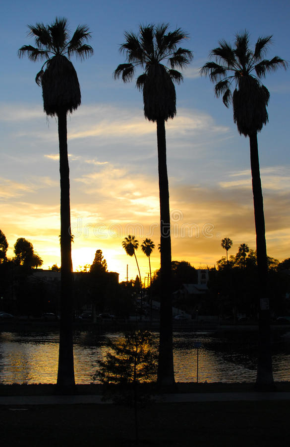 Echo Park Sunset, Los Angeles II stock afbeelding