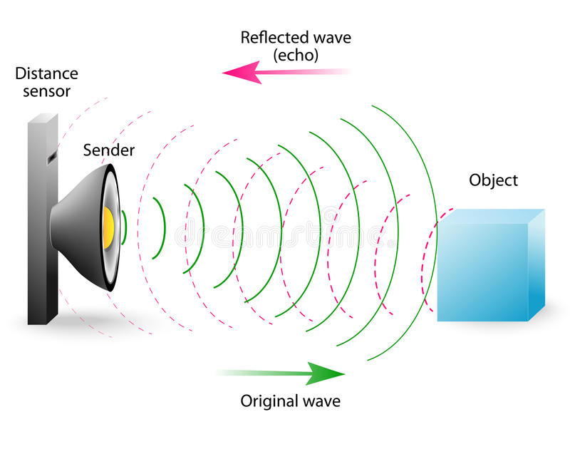 Echo is a reflection of sound waves vector illustration