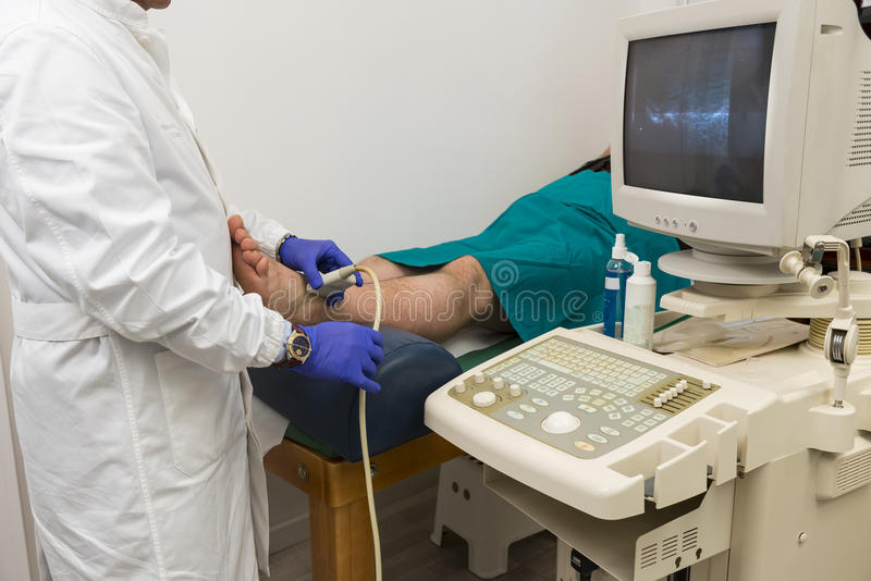 Echography in a clinic stock image