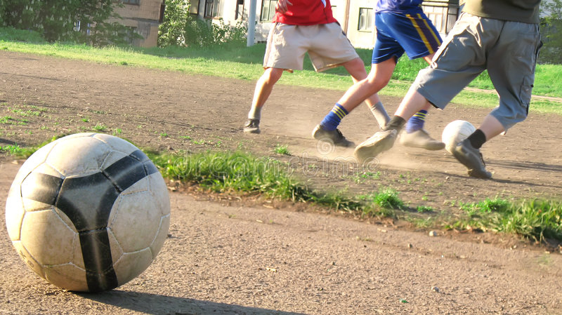 Echt voetbal stock afbeeldingen