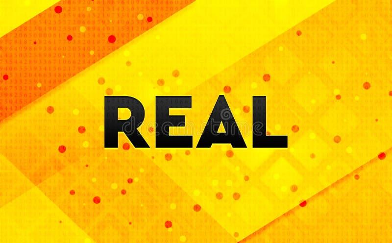 Echte abstracte digitale banner gele achtergrond royalty-vrije illustratie