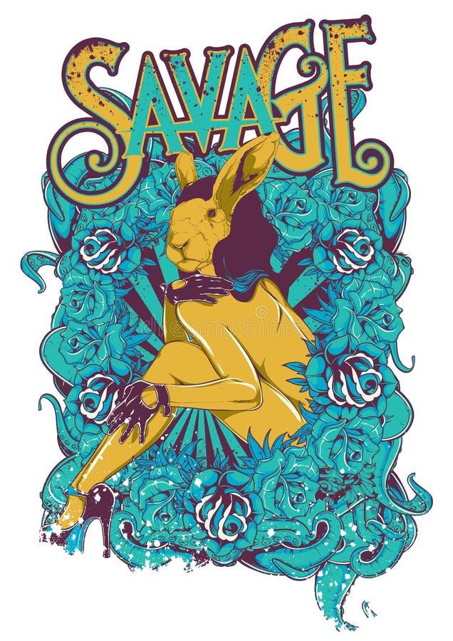 Echte Alice vector illustratie