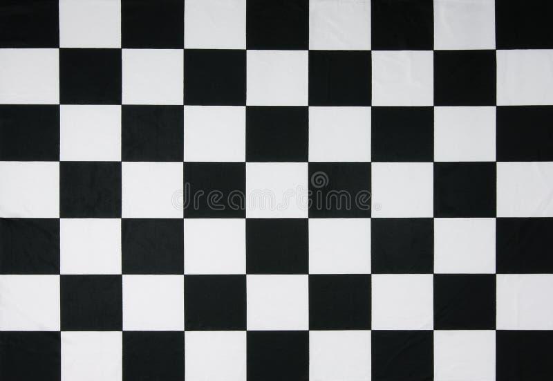 Echte geruite vlag royalty-vrije stock afbeeldingen