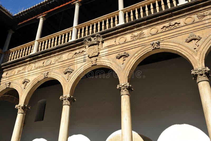 Echte het ziekenhuis, Granada, Andalusia, Spanje stock foto's