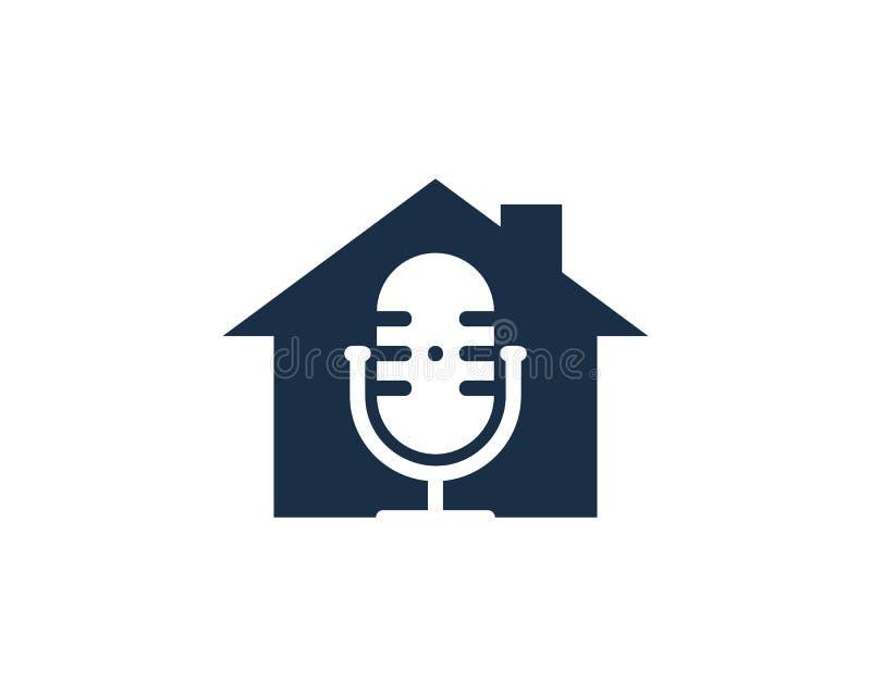 Echte Podcast Logo Icon Design stock illustratie